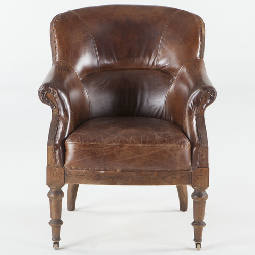 ... Churchill Deconstructed Vintage Leather Club Chair ...