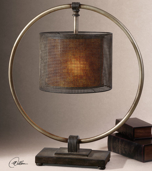Modern industrial table lamps zin home dalou rustic metal table lamp aloadofball Image collections