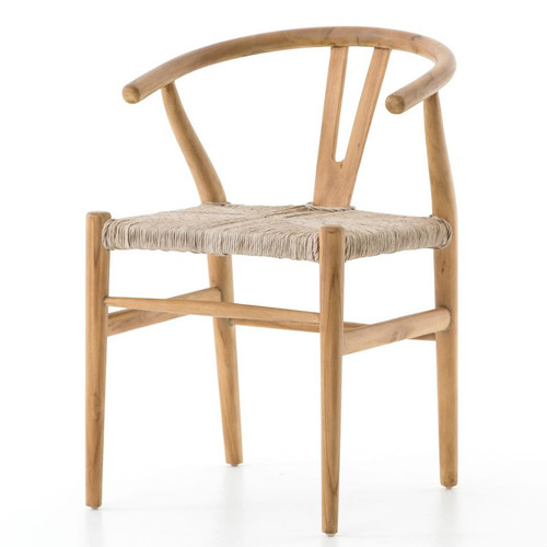 Muestra Natural Teak Wood Woven Wicker Dining Chair ...