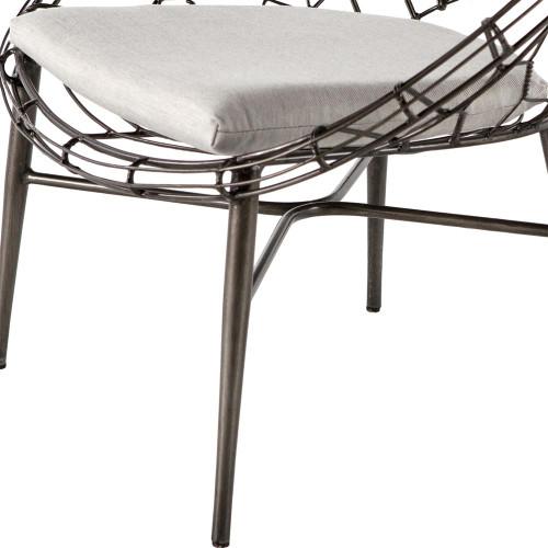 ... Marquis Metal Wicker Sunburst Outdoor Lounge Chair ... - Marquis Metal Wicker Sunburst Outdoor Lounge Chair Zin Home