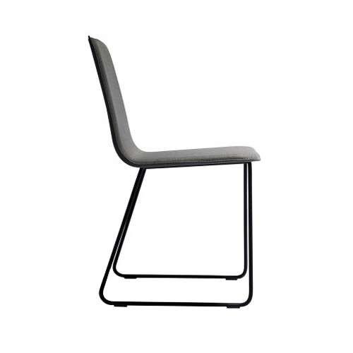 ... Lolli Sled Base Chair,Grey Fabric ...