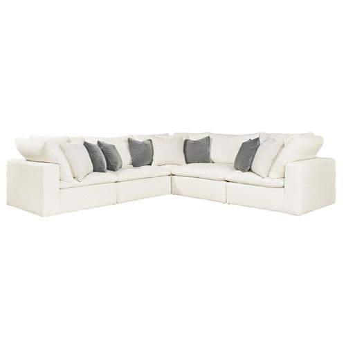 Palmer Coastal Beige 5 Pc Corner Sectional Sofa