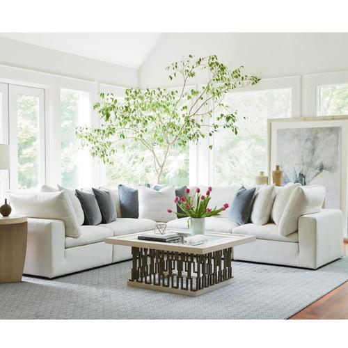 Palmer Coastal Beige 5 Pc Modular Corner Sectional Sofa
