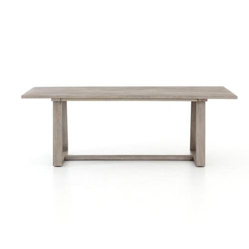 modern atherton grey teak outdoor dining tables 87 - Teak Outdoor Dining Table