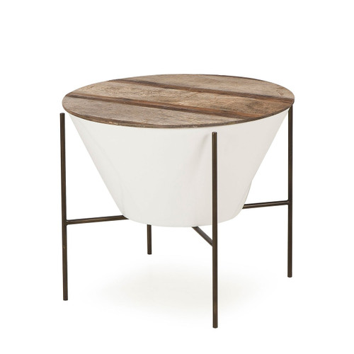 Genial ... THOMAS BINA, Danica Filter Wide Side Table, Natural/White ...