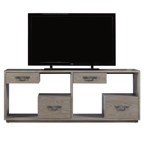 Danbury Grey 4 Drawer Media Console 78""