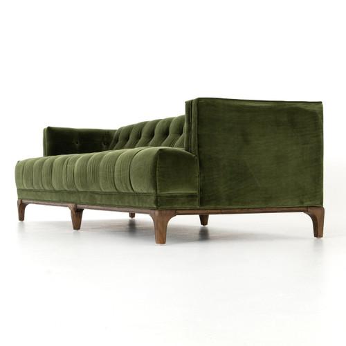 ... Dylan Mid Century Modern Olive Green Velvet Tufted Sofa ...