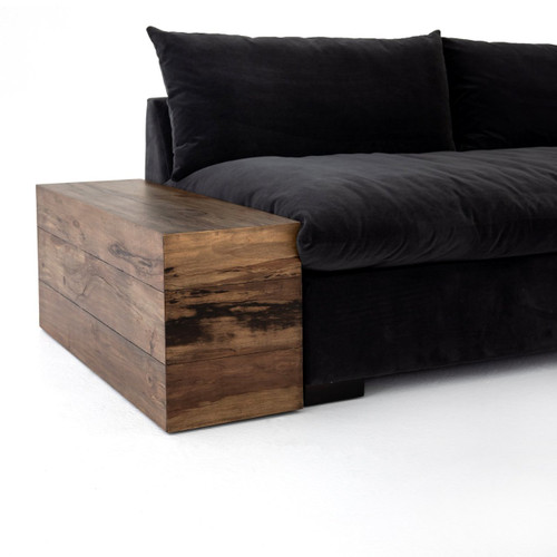 Dorset Wooden Sectional Sofa End Table Zin Home Fourhands - End table for sectional sofa