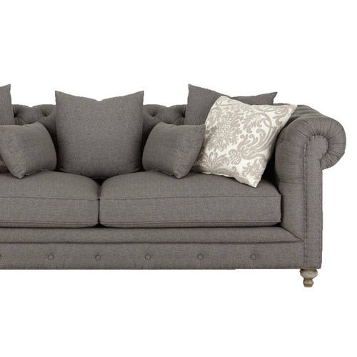 ... Alice Charcoal Tufted 3 Piece Corner Sectional Sofa ...