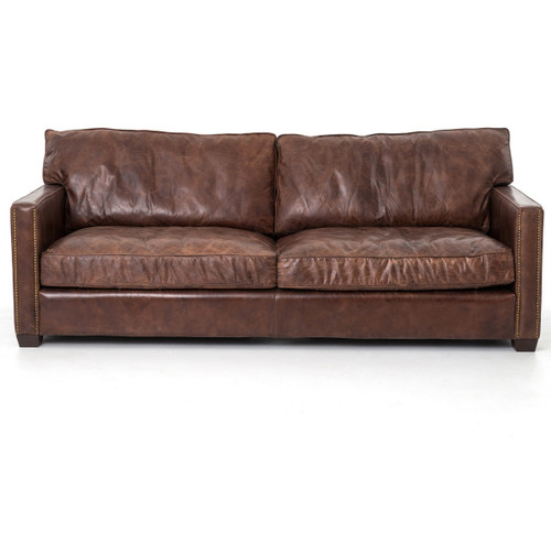 Ordinaire ... Larkin 3 Seater Distressed Leather Sofa ...