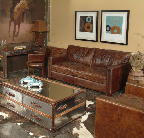Incroyable ... Larkin 2 Seater Contemporary Leather Sofa Furniture ...