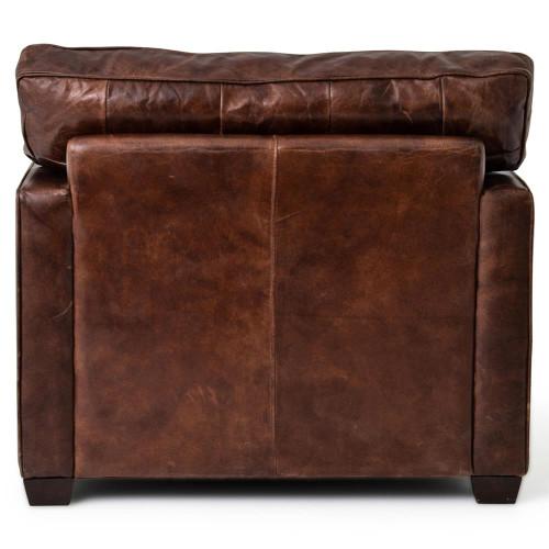 ... Hemingway Rustic Lodge Cigar Brown Leather Brass Nailhead Armchair ...