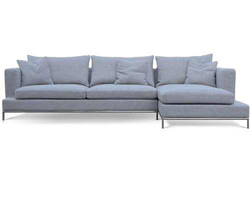 ... Soho Concept Simena Sectional Sofa GREY TWEED ...