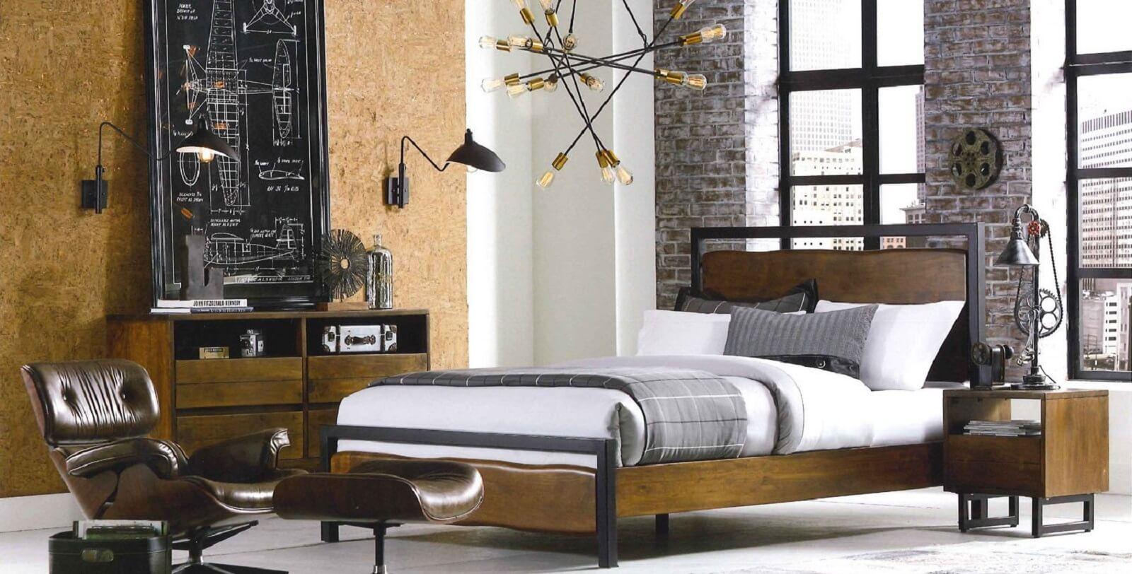 industrial bedroom furniture. Industrial Loft Bedroom Furniture