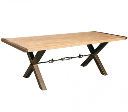 Benchwright Reclaimed Wood Iron Legs Dining Table 87