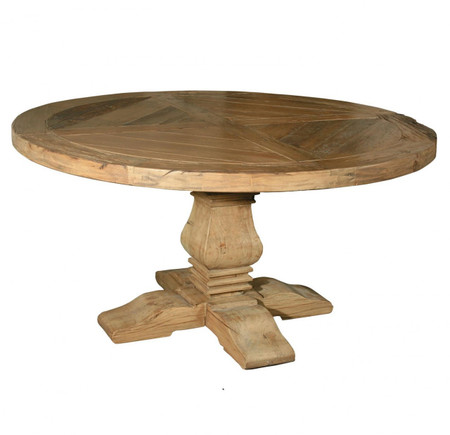 Pedestal 60 Quot Round Dining Table Reclaimed Wood Round