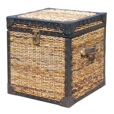 Seagrass Woven Trunk Side Table Lanai 20 Quot Trunk Side