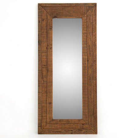 Farmhouse Rustic Reclaimed Wood Large Floor Mirror Zin Home