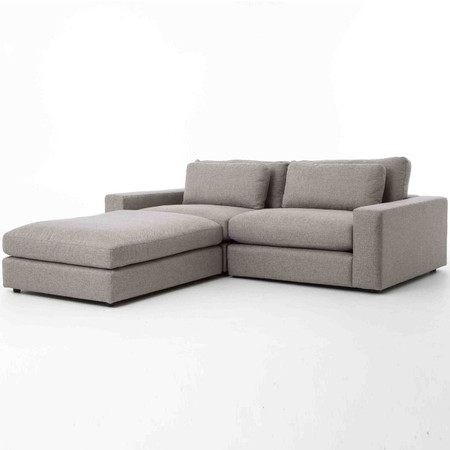 Bloor Gray Contemporary 3 Piece Small Sectional Sofa Zin