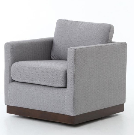 Pivot Upholstered Swivel Chair Zin Home