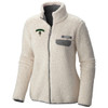 Women's chalk full zip fleece with 'Dartmouth' and lone pine of right side