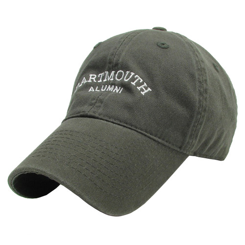Green hat with 'Dartmouth Alumni' in white across the center