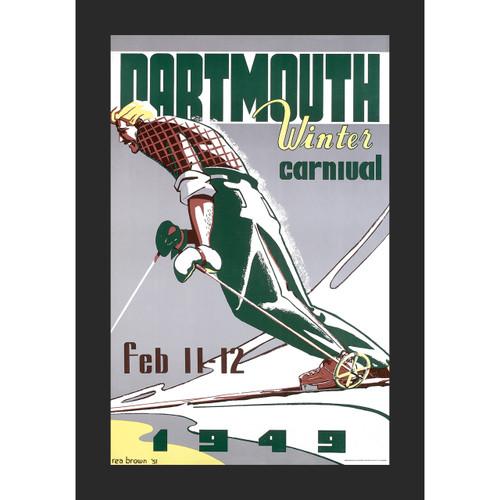 Framed 1949 Winter Carnival Poster
