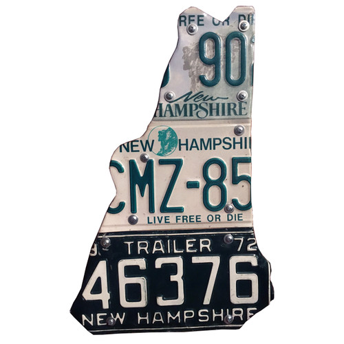 NH shaped sign made with different license plates
