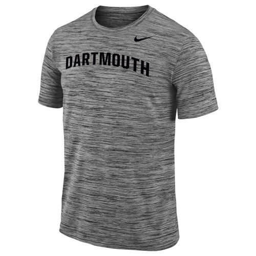 Men's grey Nike short sleeve tee with black Nike swoosh on left and black 'Dartmouth' across chest
