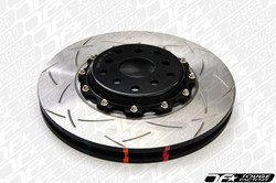 DBA 5000 T3 Slotted 2-Piece Rotor with Black Aluminum Hats - 2013+ Scion FR-S & Subaru BRZ