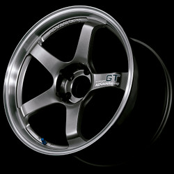 Advan GT 18x12.0 +27 - 5x114.3 - Racing Metal Black with Machined Lip