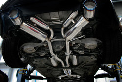 HKS Hi-Power Full Dual Exhaust with Titanium Tips + H Pipe for Nissan 350Z