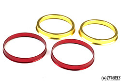 TF Aluminum Hubcentric Rings Honda S2000 (2x 72mm x 73mm Front / 2x 64mm x 73mm Rear)