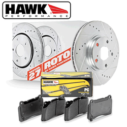Hawk Performance Section 27 Brake Rotor with PC Pad Kit - 2006 Lexus GS300. 06-11 Lexus IS250/IS350