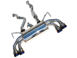 Invidia Q300 Cat-Back Exhaust System with Titanium Tip Rolled Tip - 08-14 Subaru WRX STI 5-Doors