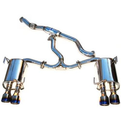 Invidia Q300 Cat-Back Exhaust System with Titanium Rolled Tip - 11-14 Subaru WRX STI 4-Doors