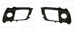 Seibon Carbon Fiber Fog Light Surround Cover - 08-12 Mitsubishi Lancer EVO X
