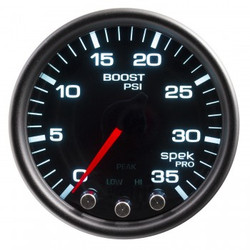 AutoMeter Spek-Pro Smoked - Boost/Turbo 52mm