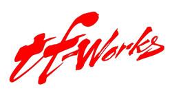 "TF-Works ""Splash"" Small Sticker - Red"
