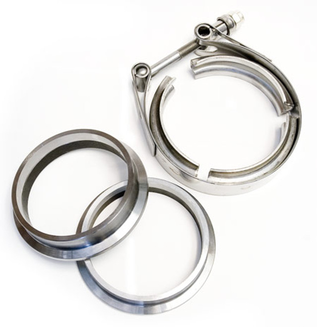 """3.00"""" V-band Machined Flange and Clamp Set"""
