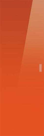 Syntesis® Flush Glass Pocket Door System Coloured ORANGE (RAL 2001)