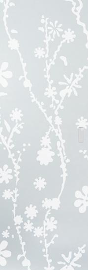 Syntesis® Flush Glass Pocket Door System Patterned BLUMA