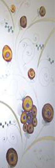 Syntesis® Flush Glass Pocket Door System Handpainted EDEN