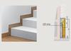 Syntesis® Flush Skirting Board Adapter with LED lighting