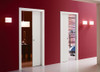 Eclisse Unilateral Two Single Pocket Doors into the Same Pocket