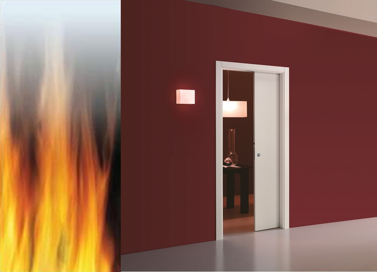 Eclisse single pocket door system fd30 fire rated easy - What is a fire rated door ...