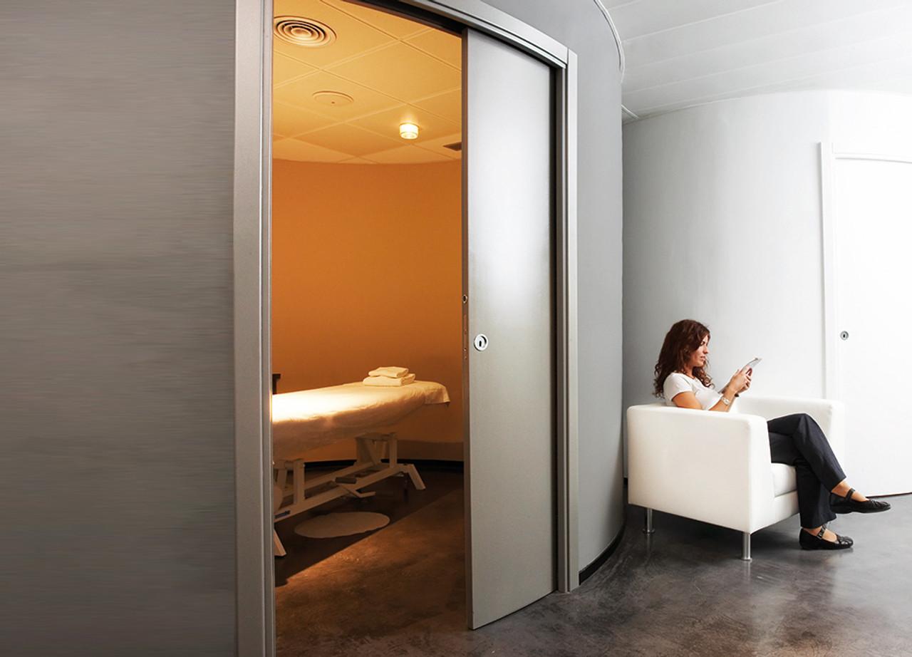 Eclisse Curved Pocket Door System Single
