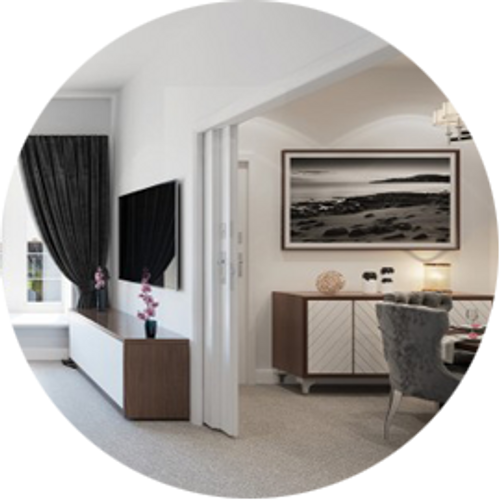 Eclisse supply Renaissance Retirement Apartments  with double telescopic pocket doors