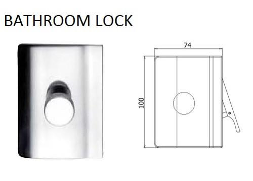 Glass Door Bathroom Lock (V-407)