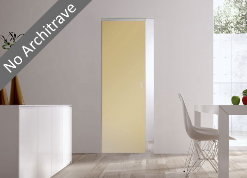 Syntesis® Flush Glass Pocket Door System Coloured SATIN AMBER